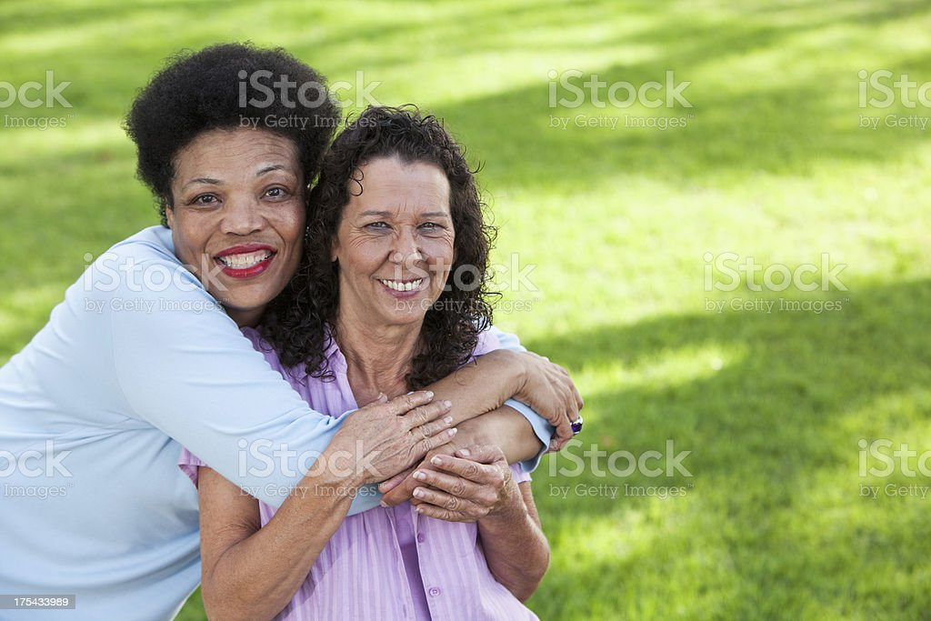 Close friends stock photo