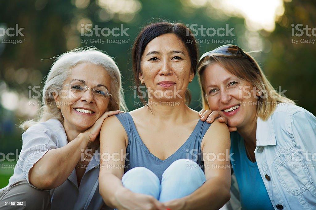 Close friendship stock photo