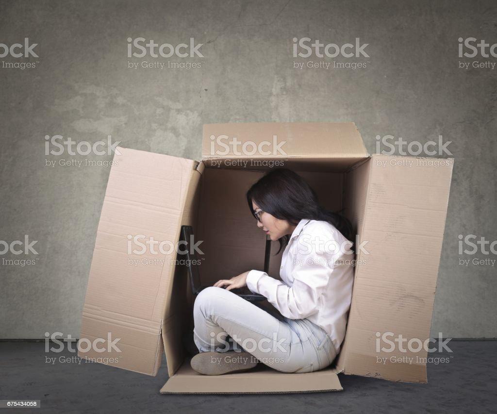 Fermer dans une boîte photo libre de droits