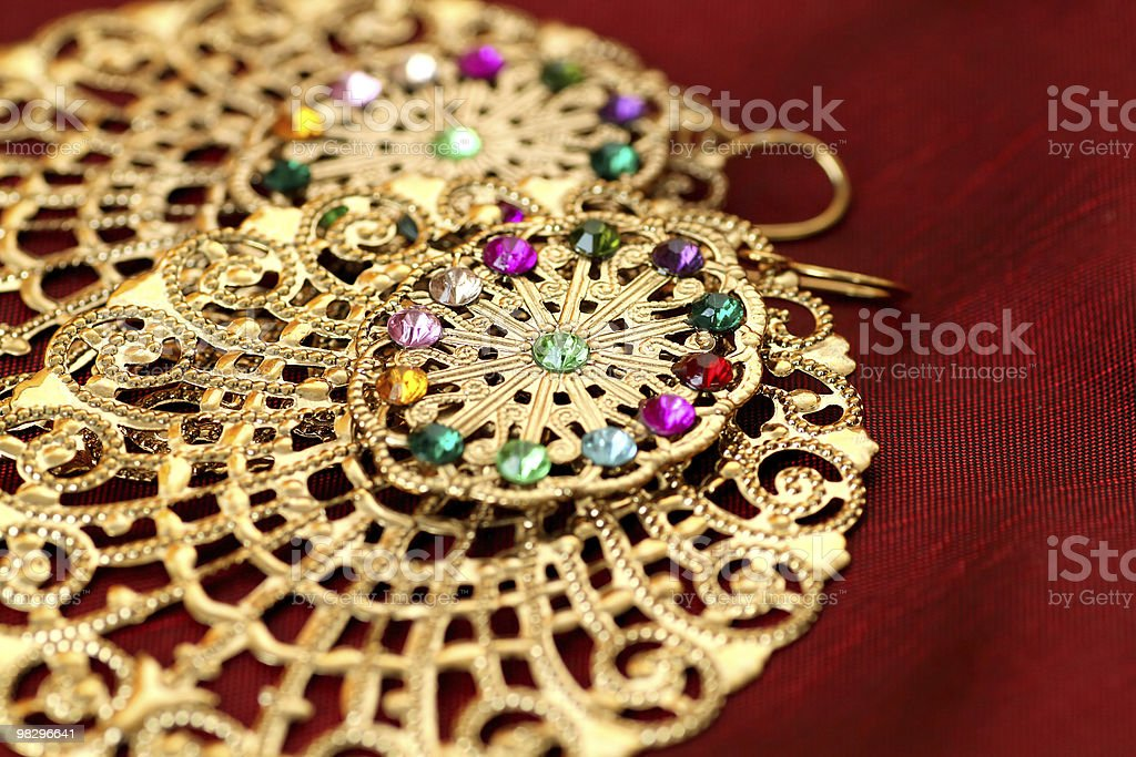 Close of Indian Jewellery. royalty-free stock photo