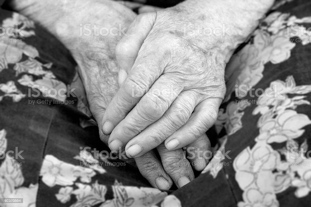 close of old womans hands royalty-free stock photo