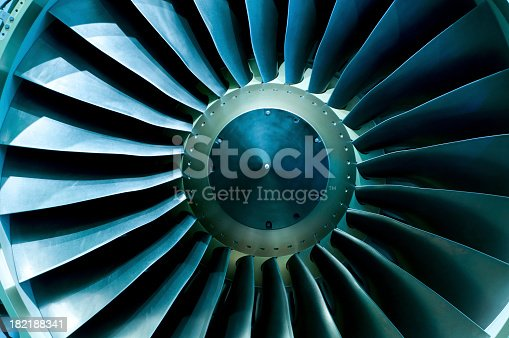 istock A close of up a turbine showing the individual spokes 182188341