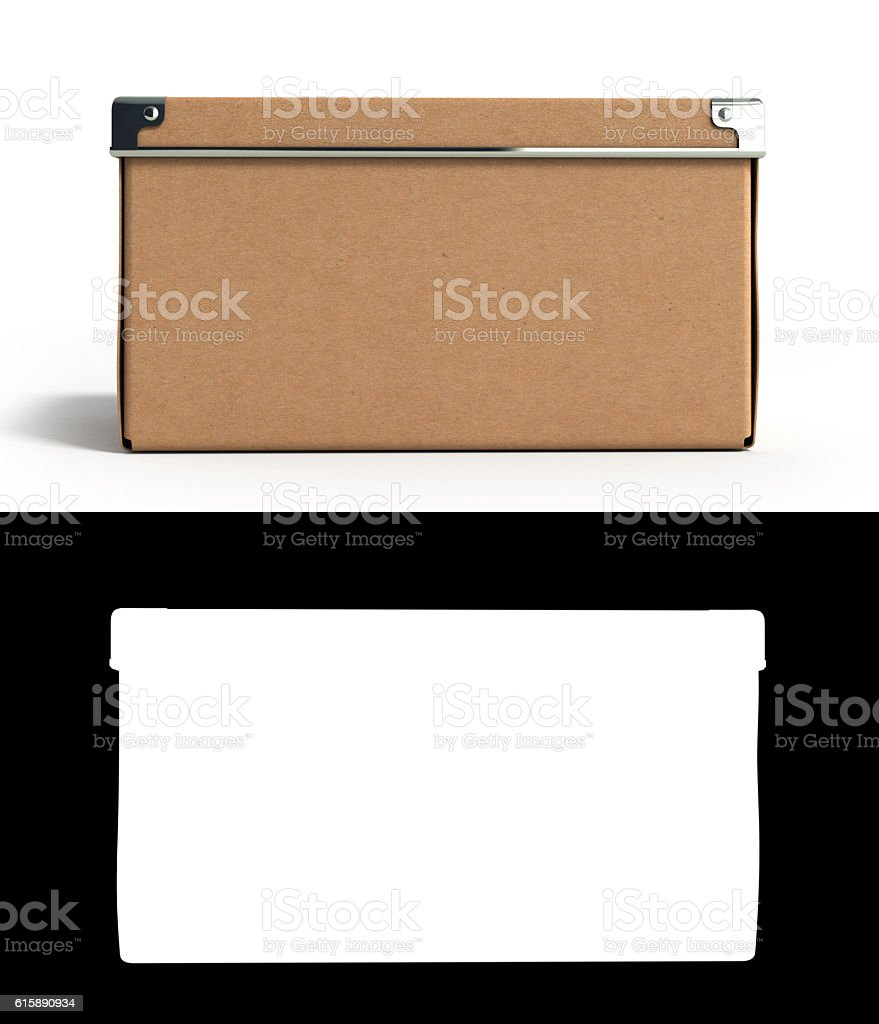 Close Office paper box for documents 3d illustration stock photo