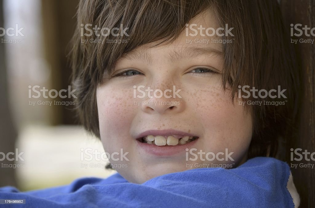 Close portrait of a young boy royalty-free stock photo