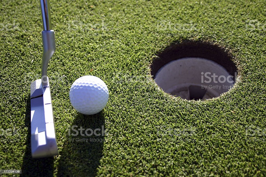 Close putt royalty-free stock photo