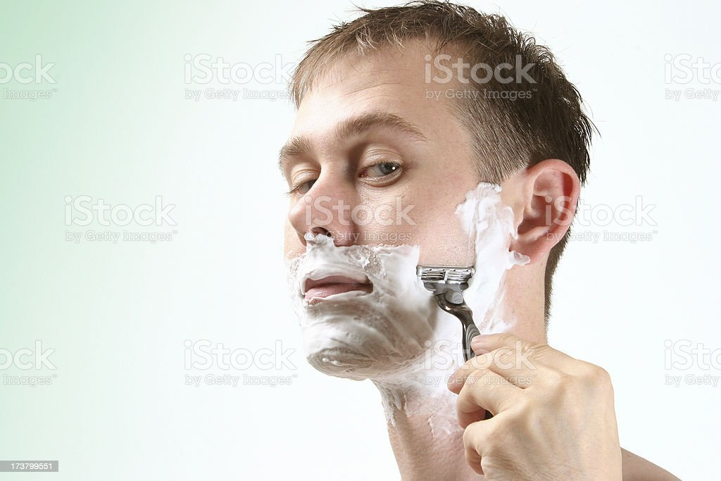 Close shave royalty-free stock photo