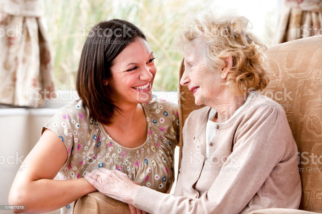 Close to Grandmother royalty-free stock photo