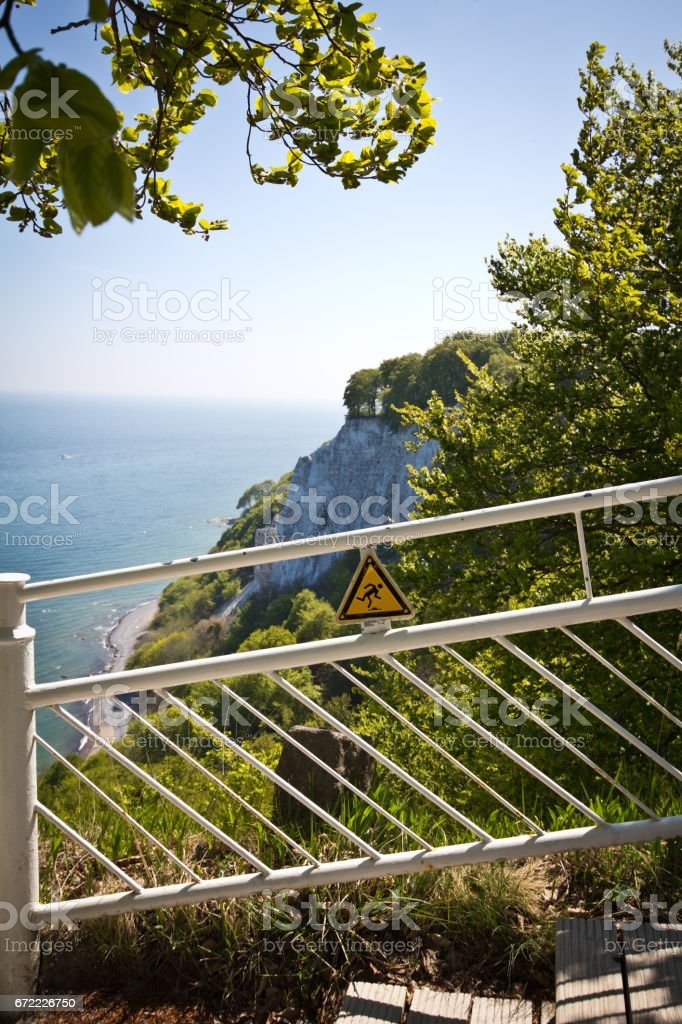 Close to the Chalk Cliffs. Great time on Rügen, Chalk Cliffs, Beaches, Coast and bathing resort Binz. stock photo