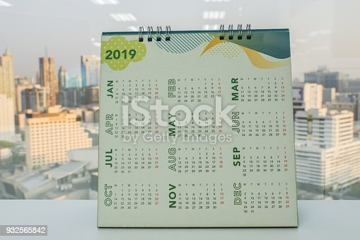 istock close up 2019 calendar on office desk for business planning 932565842
