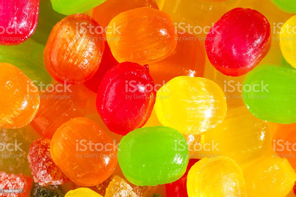 close up a background from colorful sweets of sugar candies - Royalty-free Abundance Stock Photo