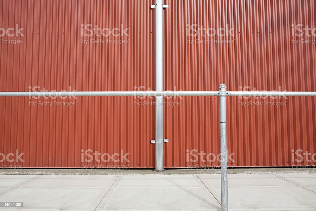 Close up abstract wall exterior; colored paneling and background royalty-free stock photo