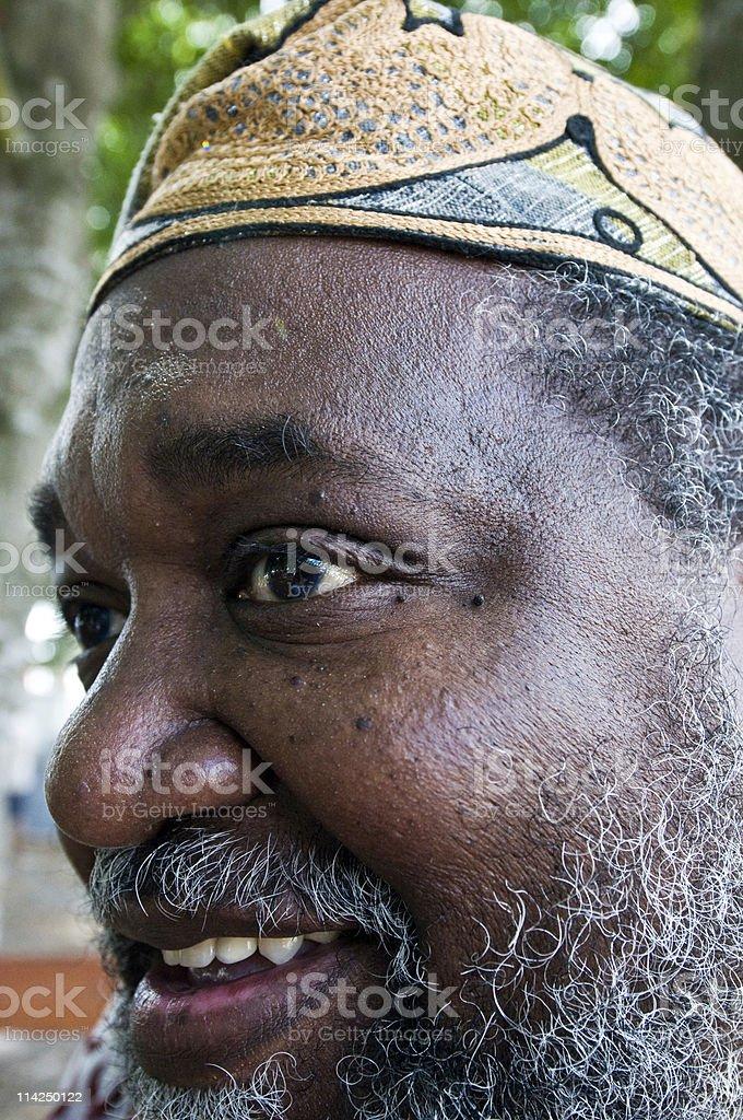 Close Up Afro caribbean Mature Man stock photo