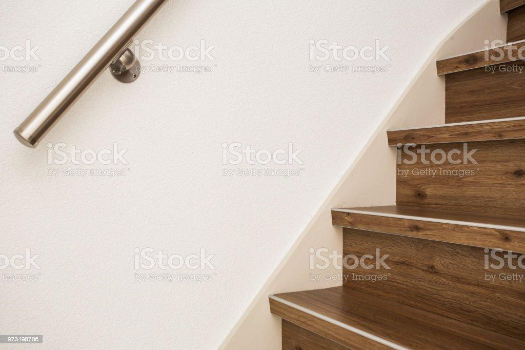 In der Nähe und Details der Geländer und Treppen eines modernen Gebäudes – Foto