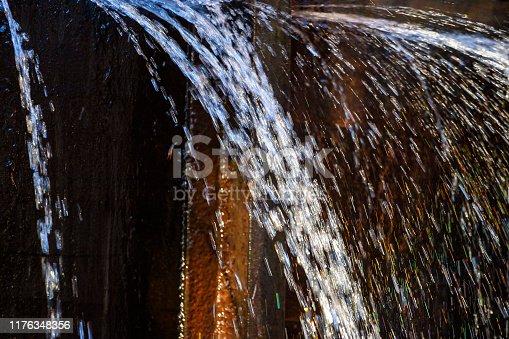 Close up at water spray