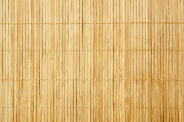 närbild bakgrund från bambu bordsduk - halmslöjd bildbanksfoton och bilder