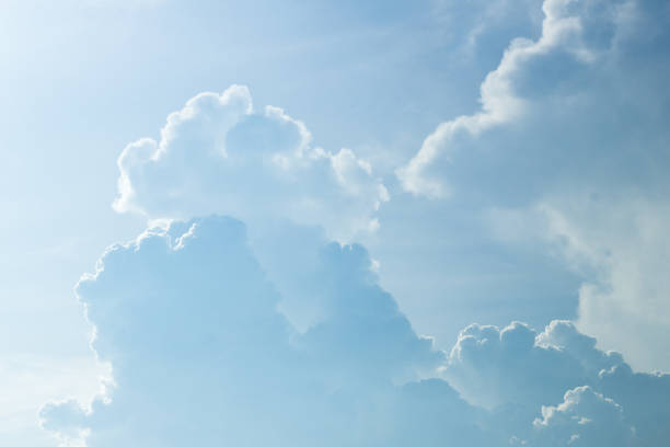 close up beautiful cloud stock photo