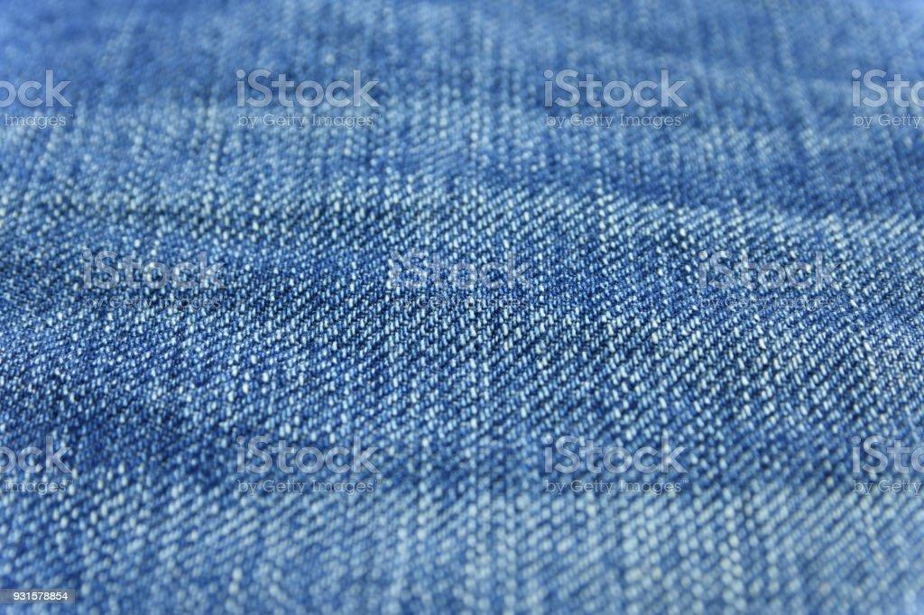 Close up blue jean texture stock photo