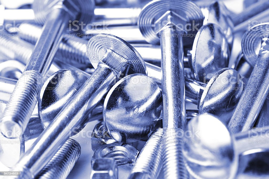 close up bolts and nuts backround royalty-free stock photo