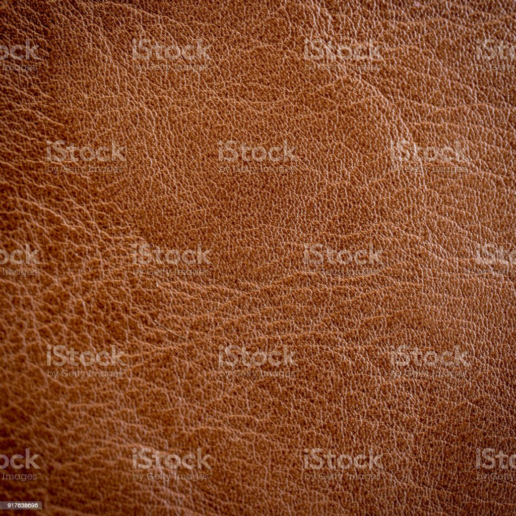 Close up brown leather texture and background. stock photo