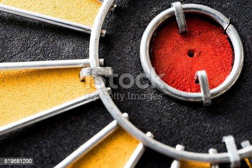 istock Close up bullseye target goal 519581200
