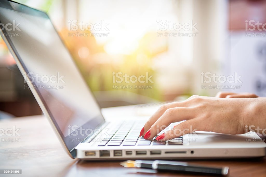 Close up business stock photo