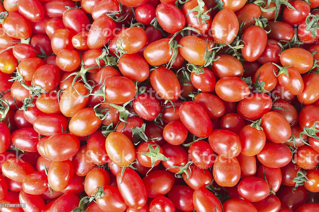 Close up cherry tomatoes and colorful royalty-free stock photo