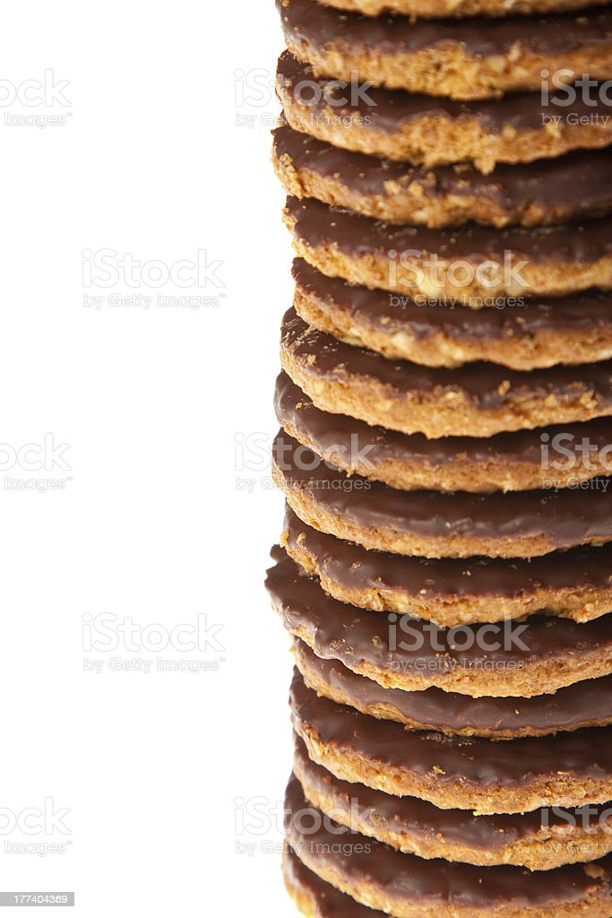 Close Up Chocolate Cookies royalty-free stock photo