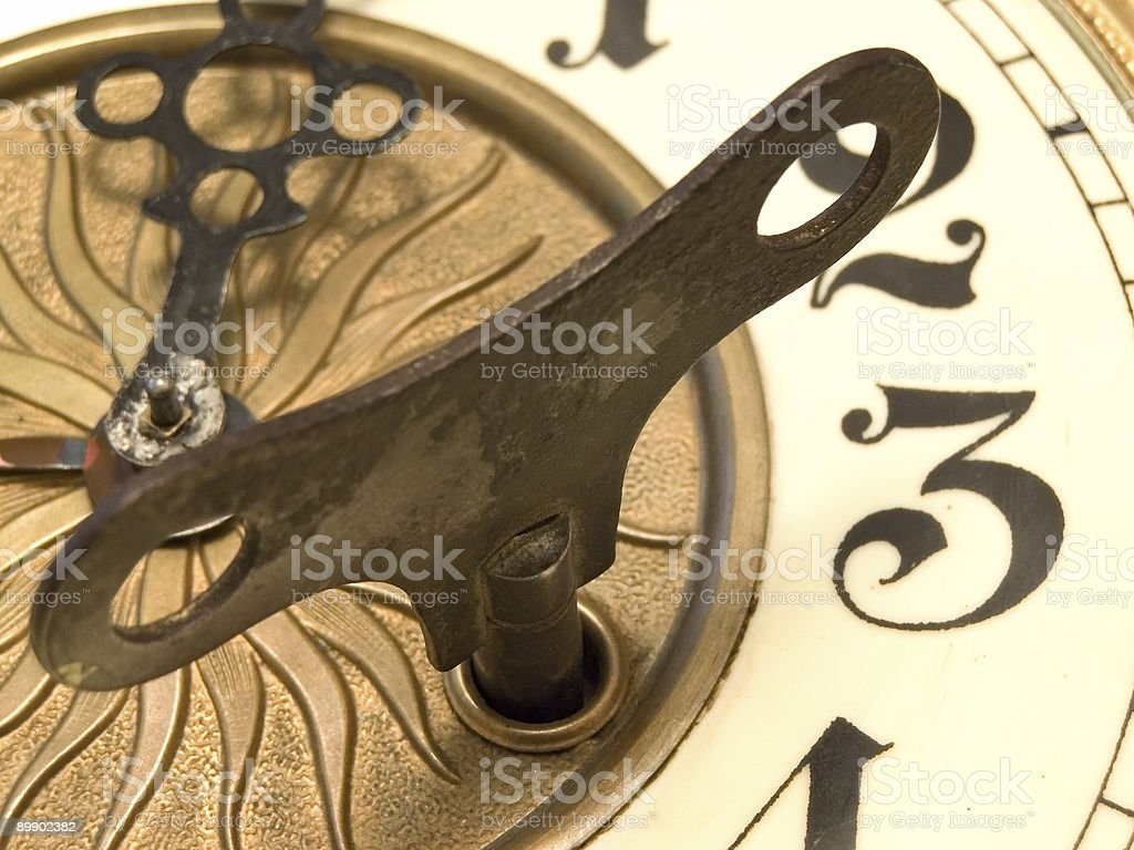 Close up clock royalty-free stock photo