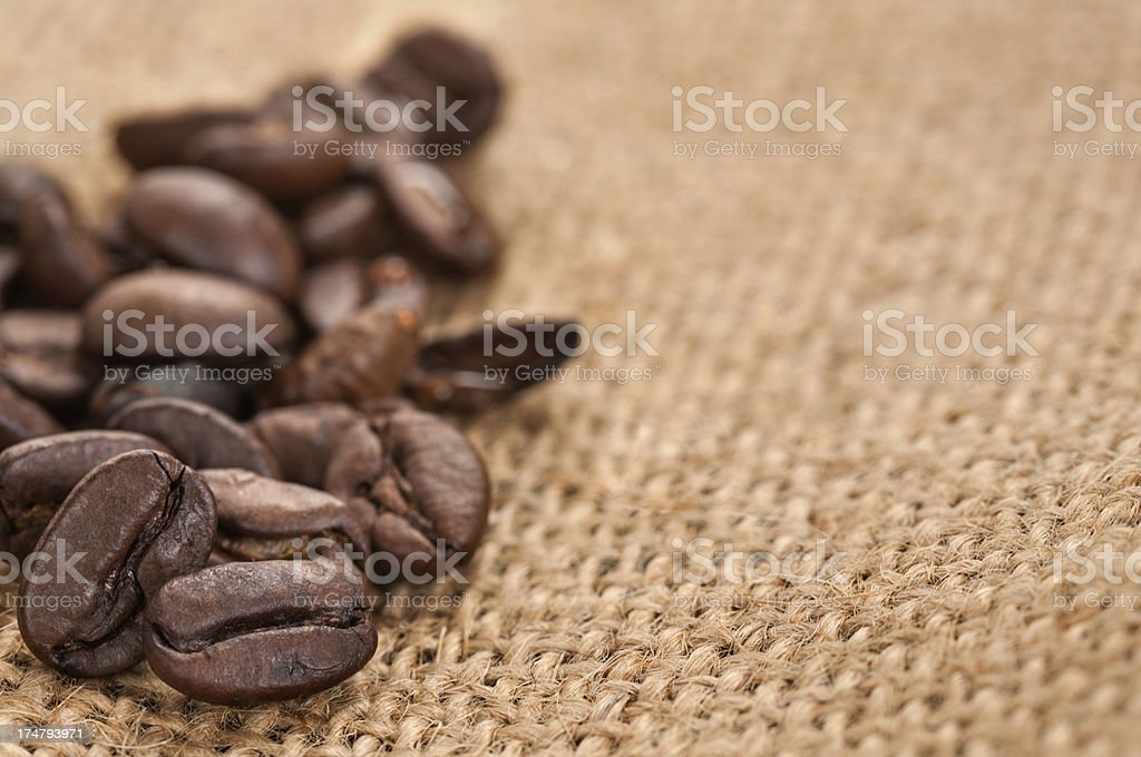 Close up coffee beans stock photo