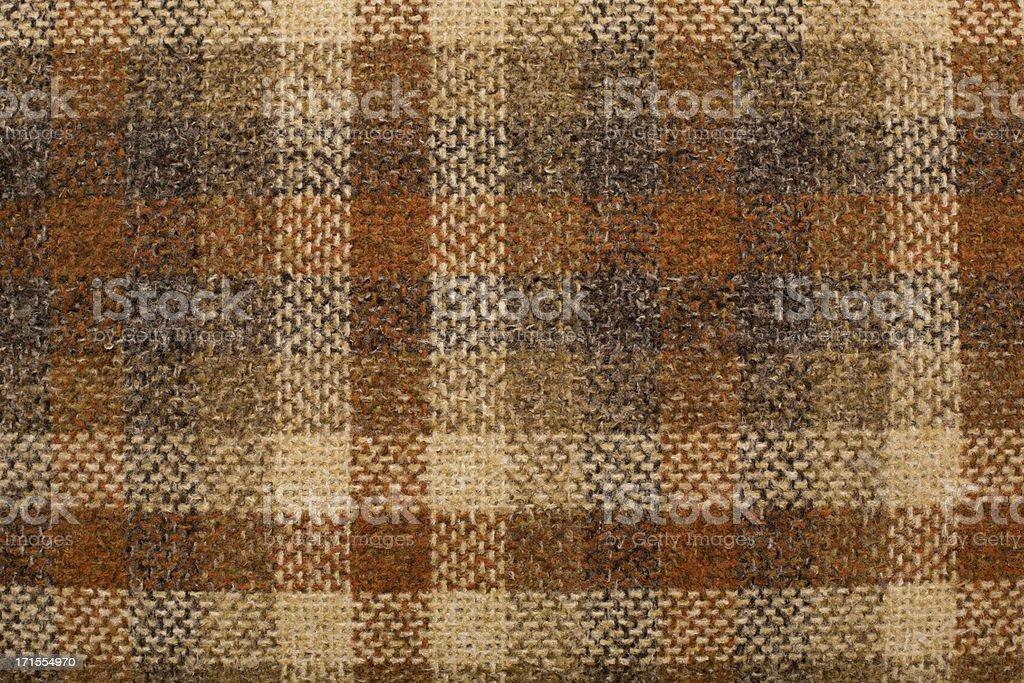 Close Up, Color Image of Retro Plaid Textile stock photo