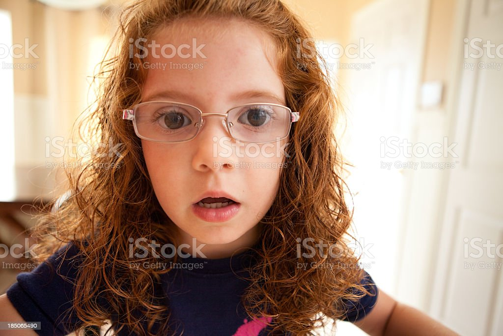 Close Up, Color Image of Serious Little Girl royalty-free stock photo