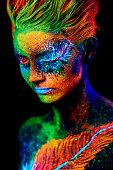 close up color UV portrait