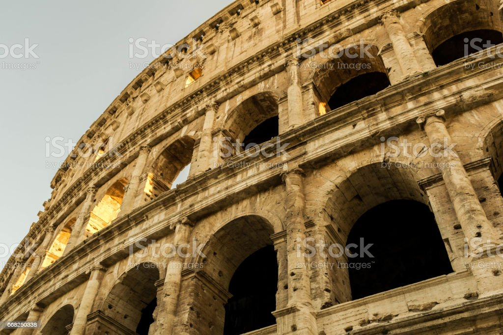 Close up Colosseum wall foto stock royalty-free