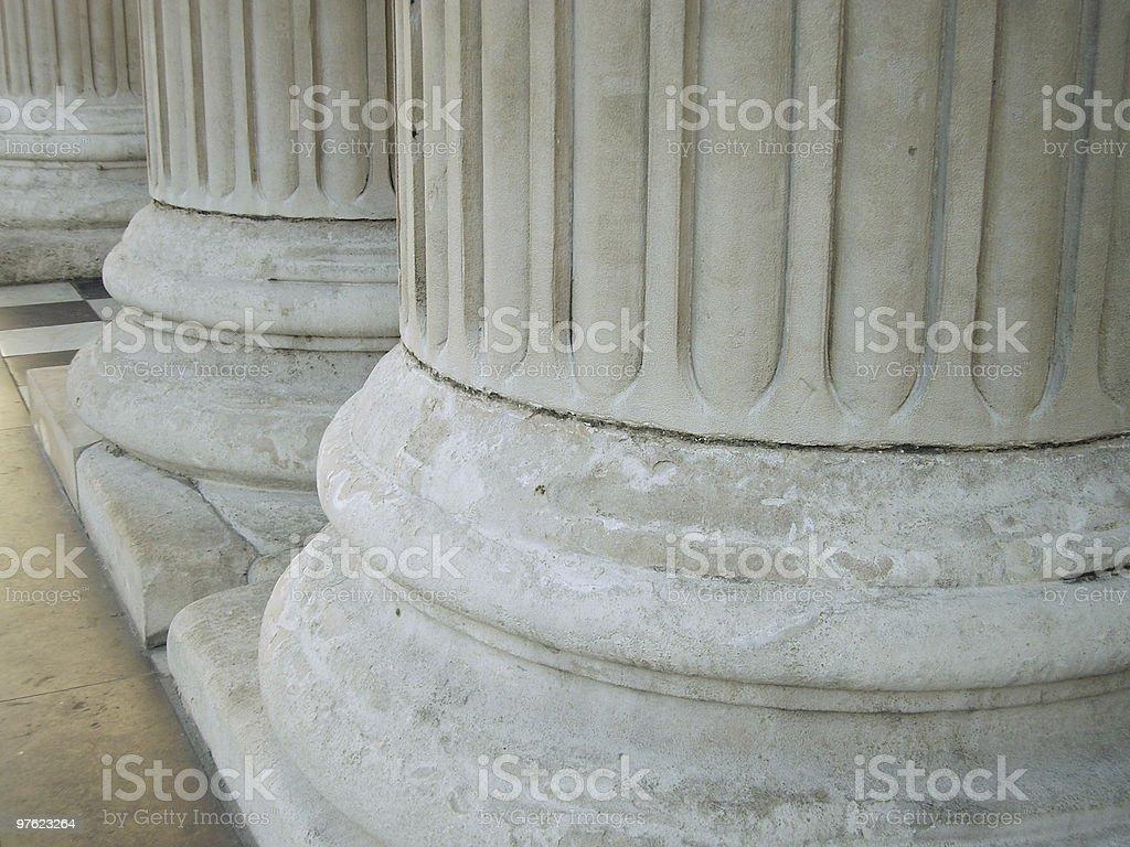 Gros plan des colonnes photo libre de droits
