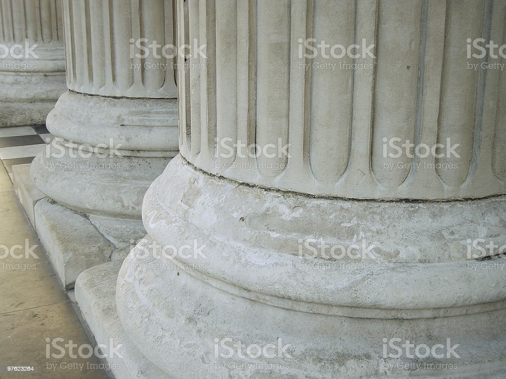 Close up columns royalty-free stock photo