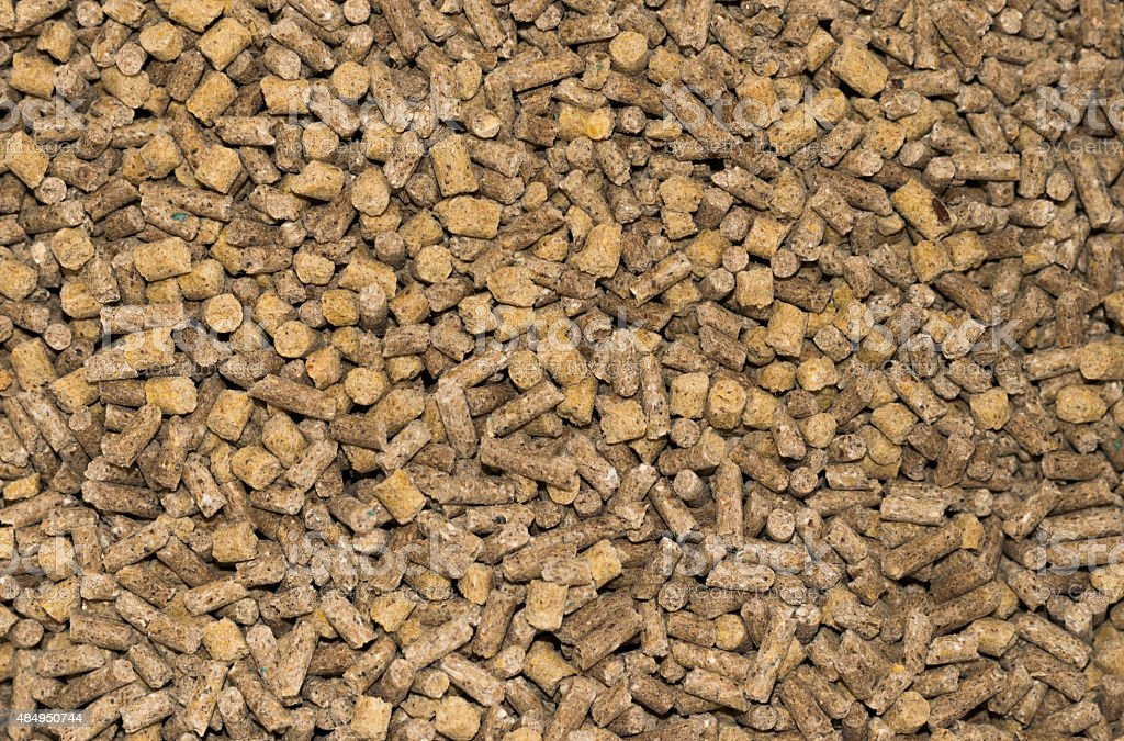 close up compressive animal feeds background stock photo