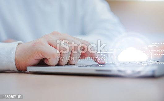 istock close up computer programmer man hand typing on keyboard for transfer or synch data upload and download from cloud computing service provider with virtual interface in operation room, technology business concept 1182697152