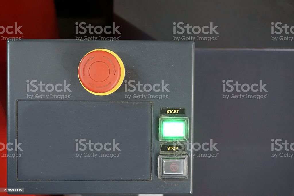 close up control buttons stock photo