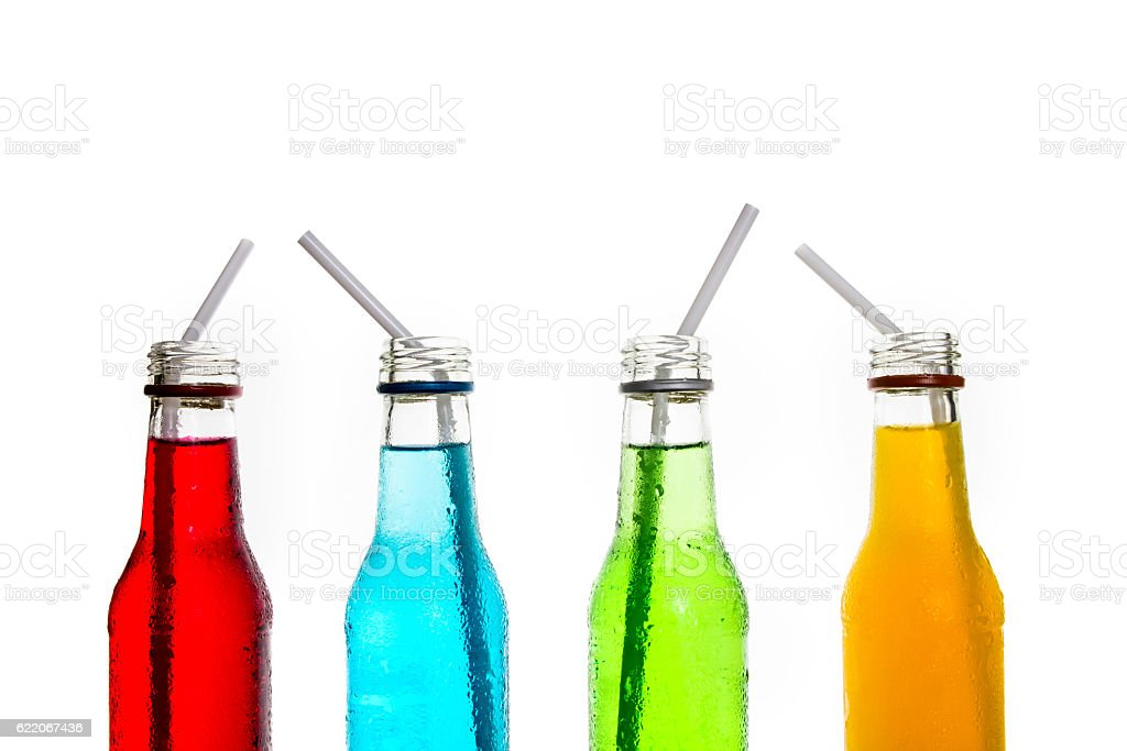close up cool colorful drink stock photo