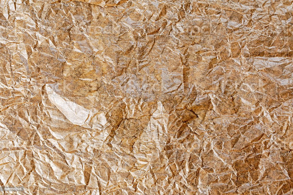 Close up Crumpled baking paper for background, texture. royalty-free stock photo