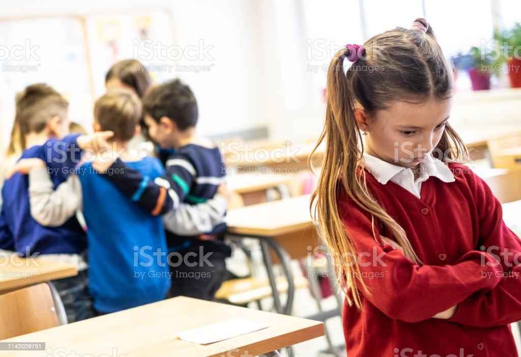 Beauty schoolgirl as target children bullying