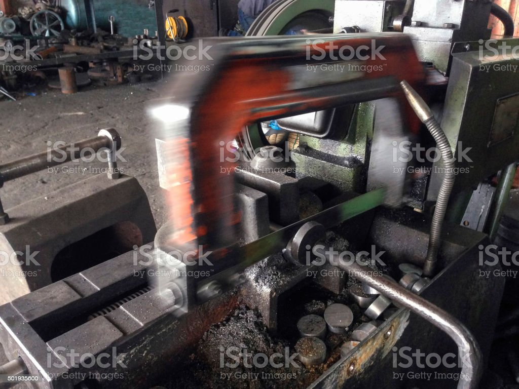 Close Up Cutting By iron Cutter stock photo
