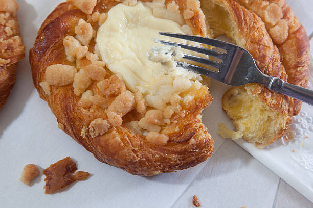 Close up danish pastry stock photo