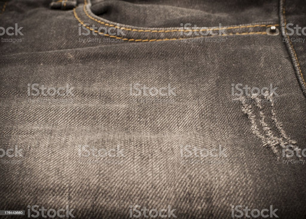 Close up denim jeans texture royalty-free stock photo