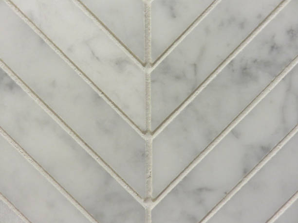 Close up detail of chevron wall tile stock photo