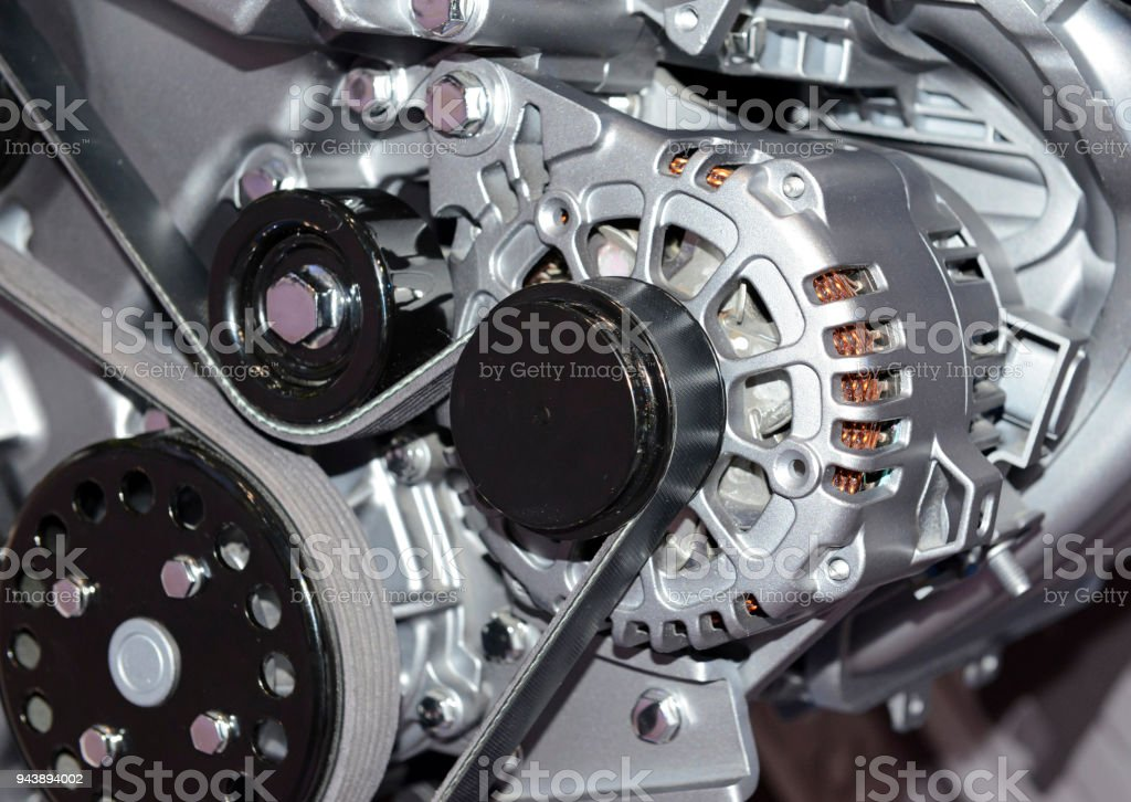Close Up Detail Of Modern Powerful Automobile Internal Combustion ...