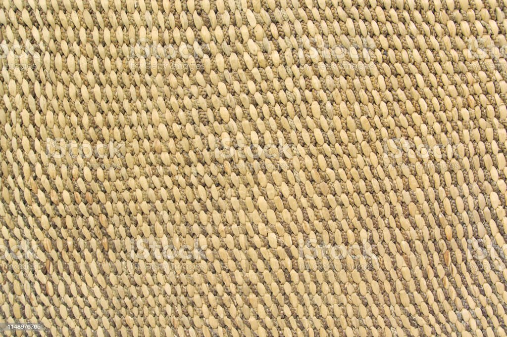 Close up detail view of a wicker basket weave as Background or...
