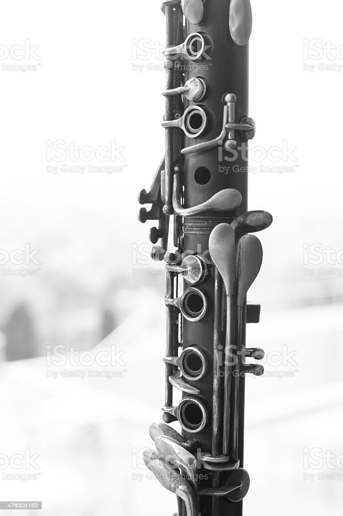 Close Up Details Of Clarinet stock photo