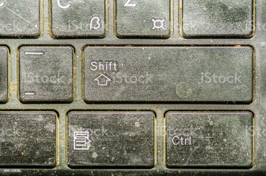 Gros clavier sale équipement insalubre dans maison ou bureau clavier