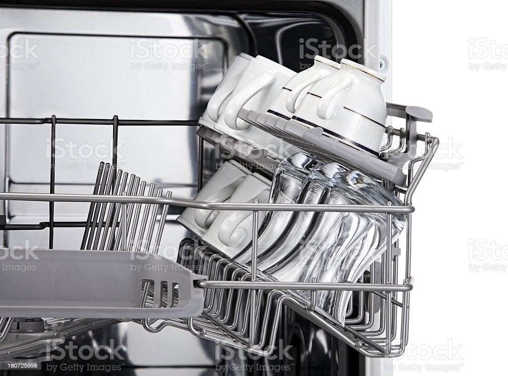 close up dishwasher royalty-free stock photo